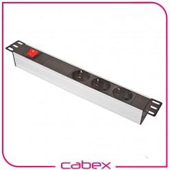 Ager 1U 10'' 3 priz Modulü kablolu ve on/off Switch li
