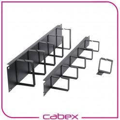 Ager 1U 19'' kablo düzenleme paneli 5 metal kancalı