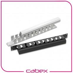 Ager 1U 19'' kablo düzenleme paneli, kanal tipi, kızaklı gecmeli sökülebilir ön kapaklı