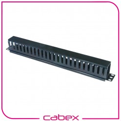 Ager 1U 19'' kablo düzenleme paneli, kanal tipi, sökülebilir ön kapaklı