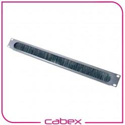 Ager 1U 19'' kablo düzenleme paneli patchcord giriş holü, fırçalı tip