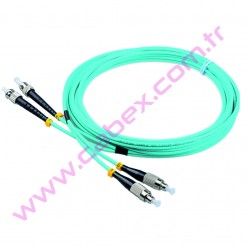 F/O Om3 Fc-St Duplex Fiber Optik Patchcord Multimode   2 Mt