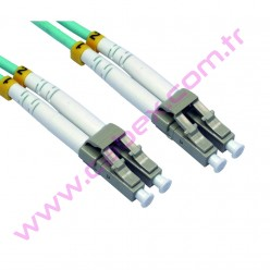 F/O Om3 Lc-Lc Duplex Fiber Optik Patchcord Multimode 1 Mt
