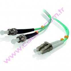 F/O Om3 Lc-St Duplex Fiber Optik Patchcord Multimode 1 Mt