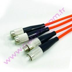 F/O Mm Fc-Fc Duplex Fiber Optik Patchcord Multimode 1 Mt