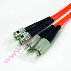 F/O Mm Fc-St Duplex Fiber Optik Patchcord Multimode 1 Mt