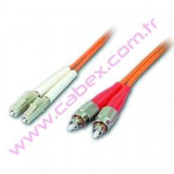 F/O Mm Lc-Fc Duplex Fiber Optik Patchcord Multimode 1 Mt