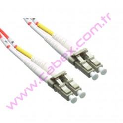 F/O Mm Lc-Lc Duplex Fiber Optik Patchcord Multimode 1 Mt