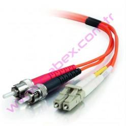 F/O Mm Lc-St Duplex Fiber Optik Patchcord Multimode 1 Mt
