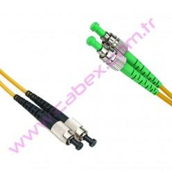 F/O Apc/Apc Fc/Apc-Fc/Apc Duplex Fiber Optik Patchcord 1 Mt