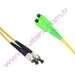 F/O Apc/Apc Sc/Apc-Fc/Apc Duplex Fiber Optik Patchcord 1 Mt