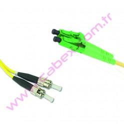 F/O Apc/Apc Lc/Apc-Fc/Apc Duplex Fiber Optik Patchcord 1 Mt