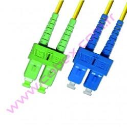 F/O Apc/Apc Sc/Apc-Sc/Apc Duplex Fiber Optik Patchcord 1 Mt