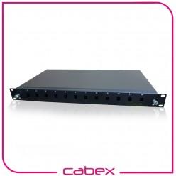 "12 Port Lc Fiber Optic Patch Panel 19"" 1u"