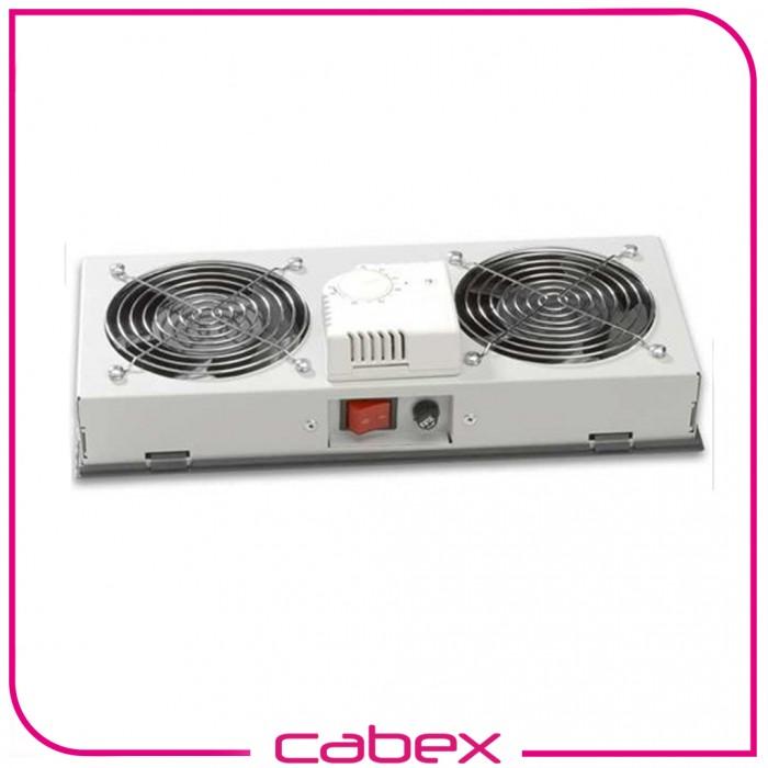 Kabinet 2 li Fan Modülü Analog Termostat Switch Duvar tipi