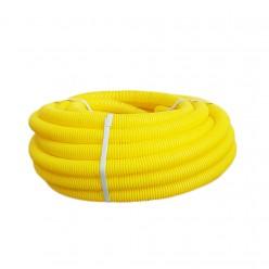 Sarı Spiral Boru 40mm ( Halogen Free ) 25 Metre