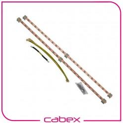 Dikey Montaj Topraklama Seti 780mm boyunda,2 adet 22x2=44 bağlantı topraklama noktası, 4 adx4mm çap x 40 cm sarı/yeşil Kablolu.