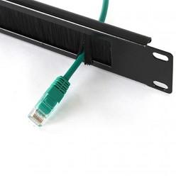 """Cabex - 1U 19"""" Fırçalı Organizer Kablo Düzenleyici"""