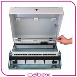NETbox Slim Serisi Duvar tipi Kabinetler, 3U + 5U toplam 8U kullanım, Döndürülebilir ön 3U cihaz montaj rayları, Yatay yada dikey cihaz montaj imkanı, 5U pasif Kısım montaj rayı, RAL 7016 / RAL 7035 Kombinasyonu, Polikarbonat Ön Kapaklı