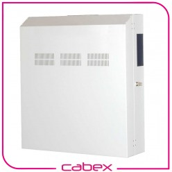NETbox Slim Serisi Duvar tipi Kabinetler, 3U + 5U toplam 8U kullanım, Döndürülebilir ön 3U cihaz montaj rayları, Yatay yada dikey cihaz montaj imkanı, 5U pasif Kısım montaj rayı, RAL 7016 / RAL 7035 Kombinasyonu, Metal Ön Kapaklı